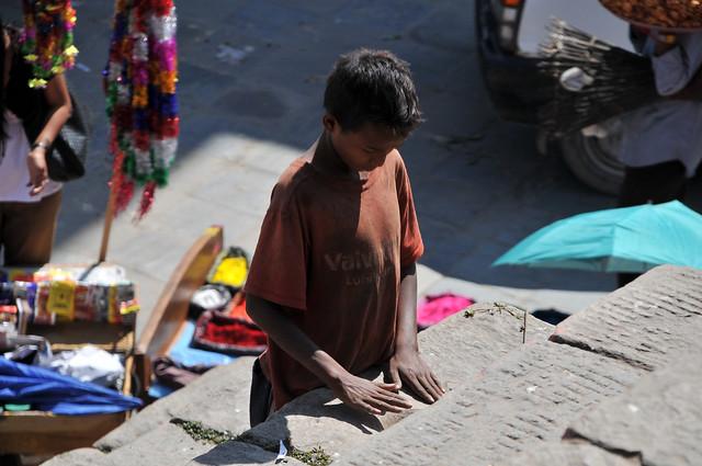 Straßenkind Kathmandu