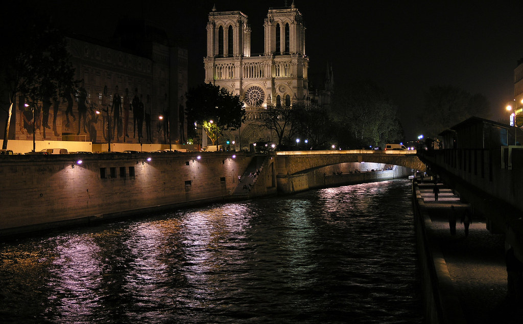 The Notre Dame at night - small panorama