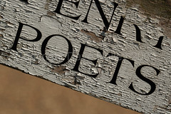 Poets Corner Sign at Richmond Park (Copyright Dave Halley 2009) by Dave Halley
