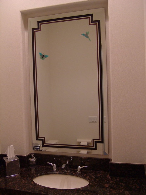 Bathroom Mirror Frames Etched Carved Painted Vanity Mirror Flickr Photo S