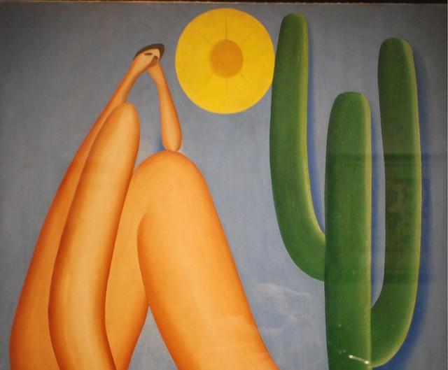 """""""Abaporu"""", pintura a óleo da artista Tarsila do Amaral, obra icônica do movimento antropofágico brasileiro - Créditos: Reprodução"""