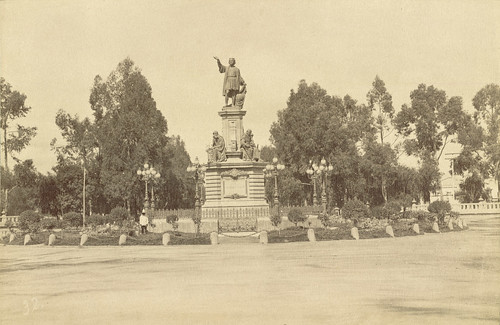 Mexico City. Monument to Christopher Columbus