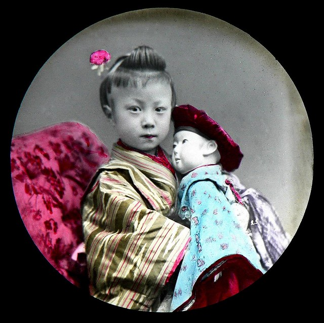Collodion Emulsion (Wet Plate) Photo on Glass from OLD JAPAN (1)
