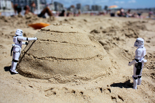 Death Star made of sand by Stefan, Flickr