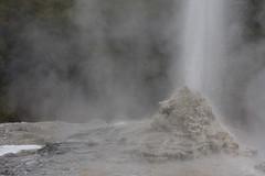 geyser, spring, mist,
