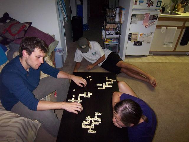 playing bananagrams