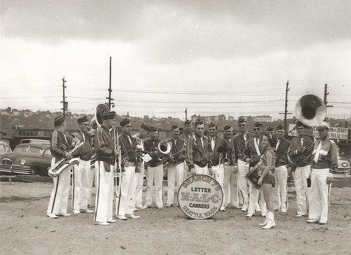 Photograph of letter carriers' band from Seattle, Washington