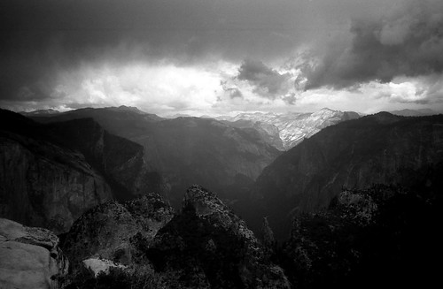 Storm over the mountains