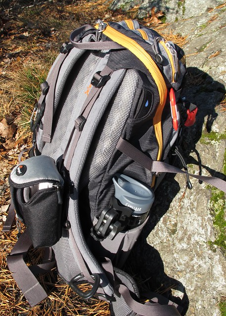 Pack, camera bag, tripod