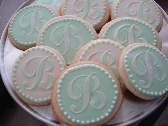 Monogrammed Wedding Cookies