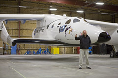 Sir Richard Branson and VSS Enterprise, Mojave. Credit Ned RocknRoll