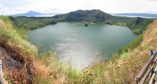Image of  Taal Volcano. panorama lake island volcano wasser philippines crater batangas tagaytay taal