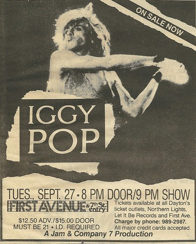 09/27/88 Iggy Pop @ First Avenue, Minneapolis, MN