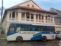 A bus in Kampot