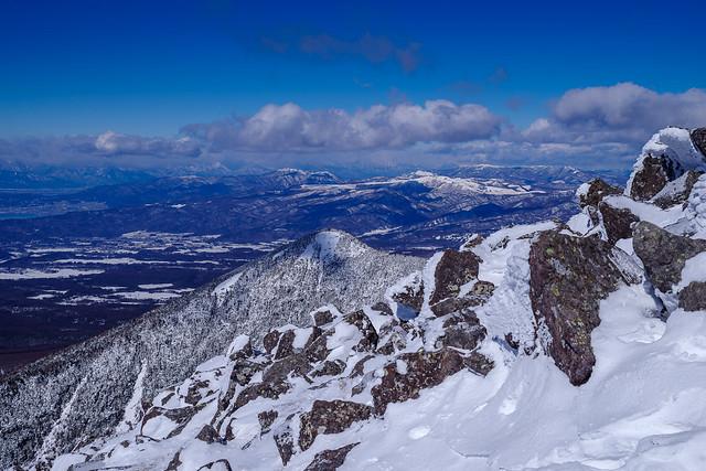寒すぎるので西岳登頂は断念です
