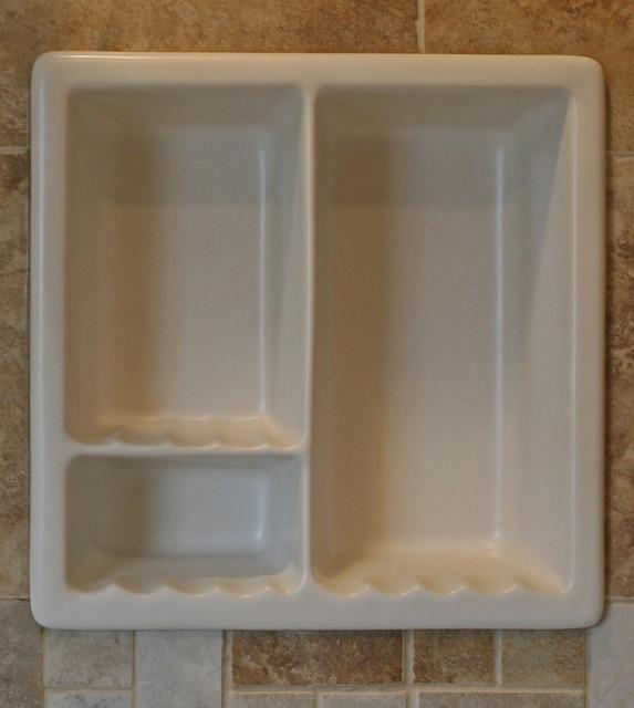 Bathroom recessed ceramic shampoo soap dish holder - Ceramic soap dishes for bathrooms ...