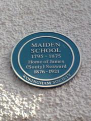 Photo of James Seaward blue plaque