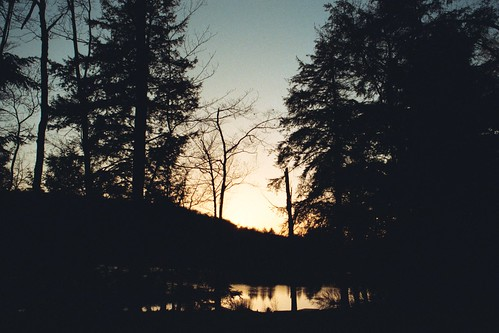 sunset catskillsny amberlake