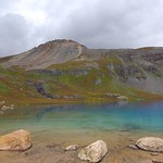 Ice Lake Blue under Vermillion Peak