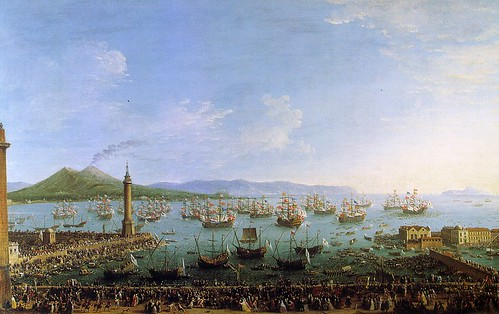 Joli, Antonio (1700-1777) - 1759 The Embarkation of Charles III in the Port of Naples (Prado, Madrid) par RasMarley