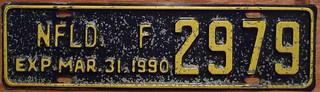 NEWFOUNDLAND 1989 (EXPIRES MAR 31, 1990) ---FARM FORESTRIES and MINING plate
