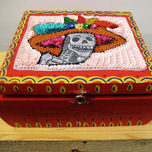 calavera cigar box
