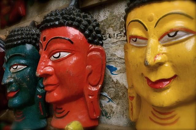Buddha Masks In Kathmandu