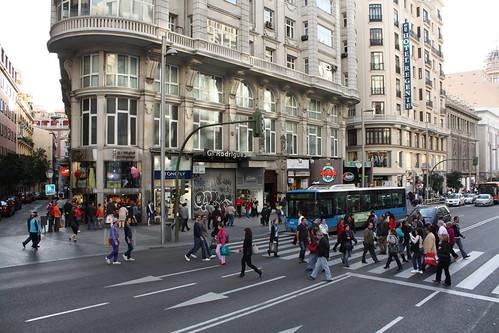 Gran Vía Madrid vibrante