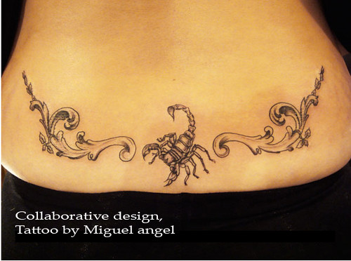 scorpion lower back tattoo The scorpion is designed by me the patterns by
