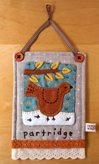 Linen Partridge Hanging