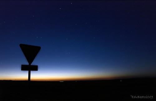 sunset backlight night contraluz stars atardecer noche long exposure paso estrellas nocturna horizonte exposicion larga señal ceda