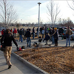 A good turnout for the first tag match of 2005 at Aurora Expo Park
