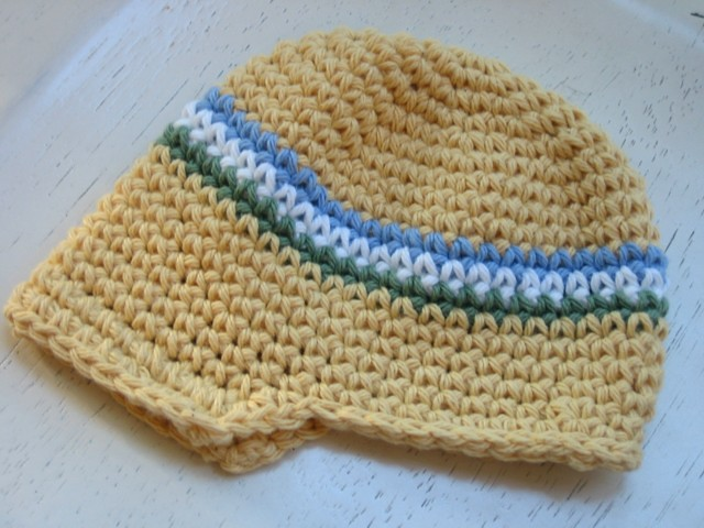 Visor Beanie Hat Patterns - Crochet -- All About Crocheting