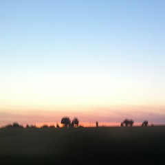 Sun setting from a moving car - Photo of Exireuil