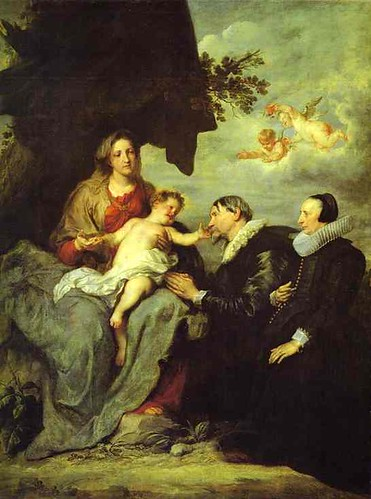 Van Dyck, Anthony (1599-1641) - The Virgin and Child with Donors (Louvre)