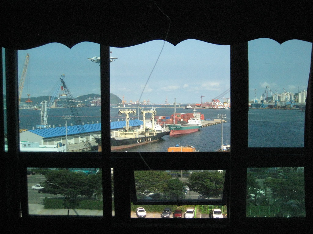 View from the Marina Motel in Busan