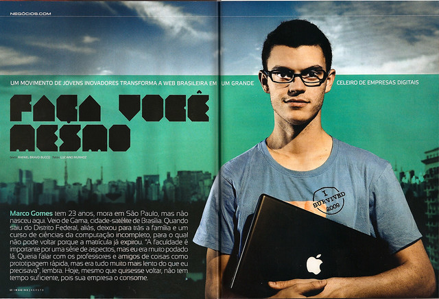 boo-box e Marco Gomes na revista Imagine