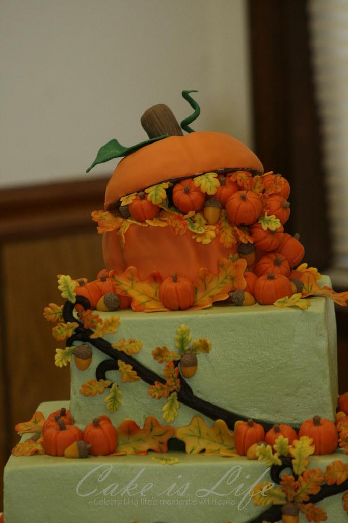 Tractor Pumpkin Cake