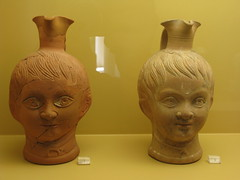 wood(0.0), bust(0.0), stone carving(0.0), statue(0.0), carving(1.0), art(1.0), ancient history(1.0), clay(1.0), sculpture(1.0), pottery(1.0), head(1.0), ceramic(1.0),