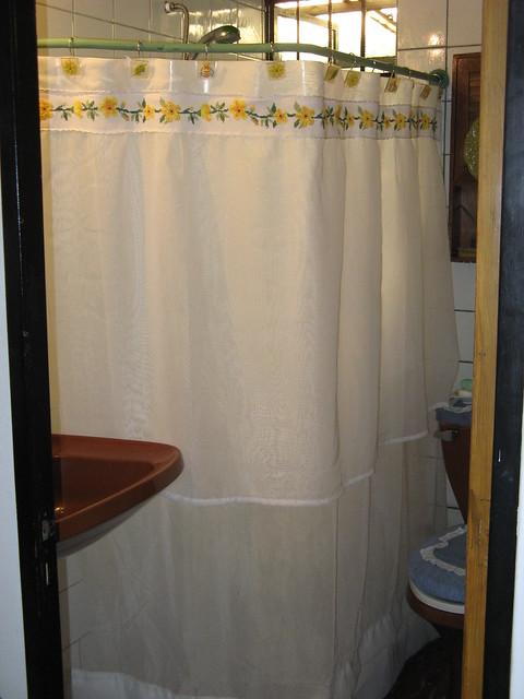 Cortina para baño - Flores amarillas - VENDIDA - 0105 ...