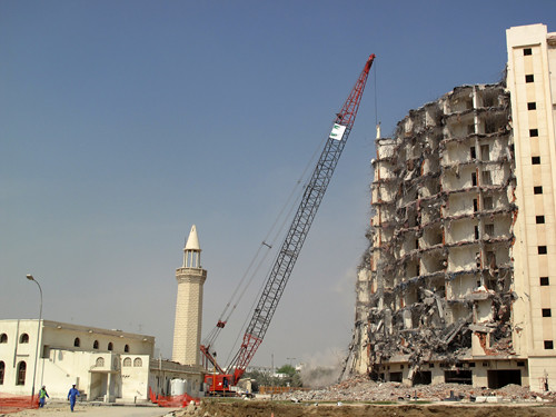 Demolition for Dohaland, Doha, October 2009.