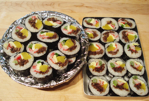 Maangchi's kimbap