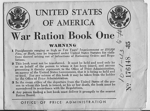 WAR RATION BOOKS, WORLD WAR TWO...