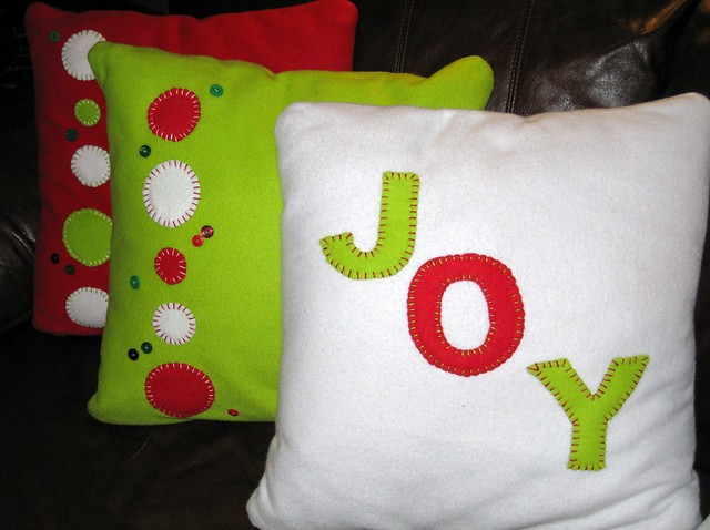 Handmade christmas pillows more on these
