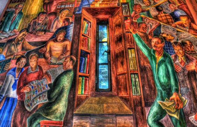 4 coit tower murals flickr photo sharing for Coit tower mural artists