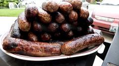 sausage, roasting, grilling, boudin, longaniza, produce, food, dish, cuisine, breakfast sausage, kielbasa, cooking, bratwurst,