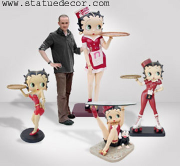 Betty Boop Life Size Statue Waitress