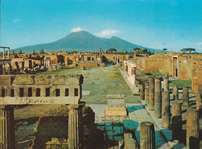 Ruins of Pompei's Civil Forum