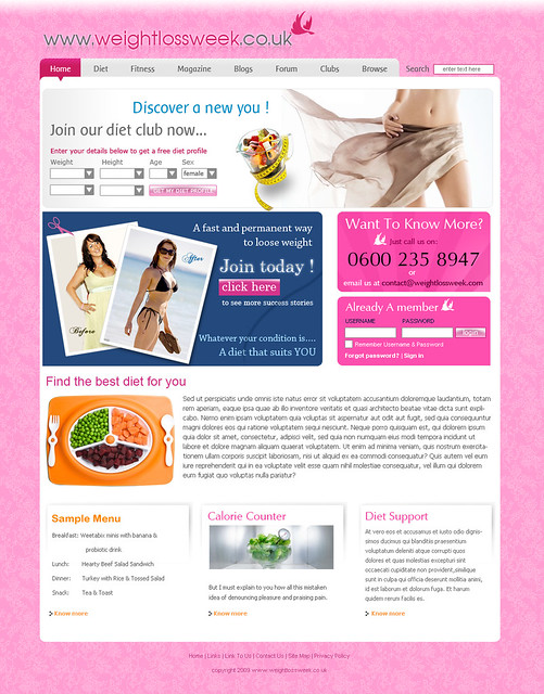 weight loss week template design health template weight loss template ...