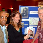 Hornsey Historical Society book launch - Lynne Featherstone with author Janet Owen and Cllr Errol Reid
